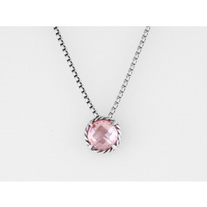 David Yurman   Sterling Silver Morganite  Pendant