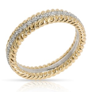 Tiffany & Co. Schlumberger Rope two-row diamond Ring in 18Kt Yellow Gold 0.23ctw
