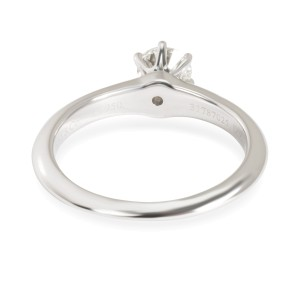 Tiffany & Co. Solitaire Diamond Engagement Ring in  Platinum I VS1 0.53 CTW