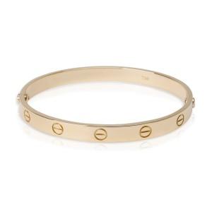 Vintage Cartier Love Bracelet in 18K Yellow Gold Size 18