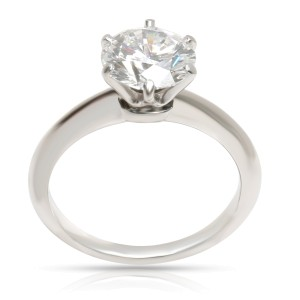 Tiffany & Co. Diamond Solitaire Engagement Ring in  Platinum (1.54 CTW F VVS2)