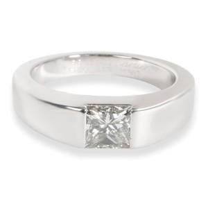 Vintage Cartier Diamond Engagement Ring in 18K White Gold (1.02 CTW G VS1)