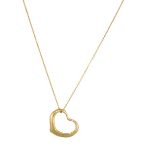 Tiffany & Co. 18K Yellow Gold Perretti Heart Pendant And Chain