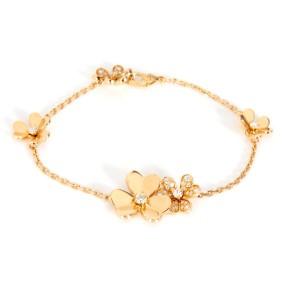 Van Cleef & Arpels Frivole Diamond Bracelet in  Yellow Gold 0.61 CTW