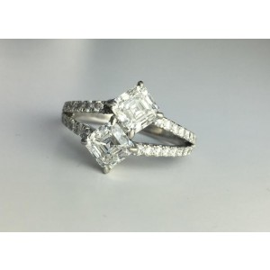 Daniel K Asscher Platinum & 1.71ct Diamond Ring Size 5.5