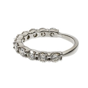 Platinum 11 Diamond Band Ring Size 6.75