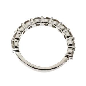 Platinum 11 Diamond Band Ring Size 6.75