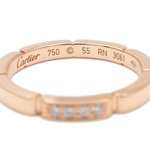 Cartier 4P Diamond & 18k Rose Gold maillon panthère Ring