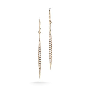 14K Rose Gold Stiletto Earrings