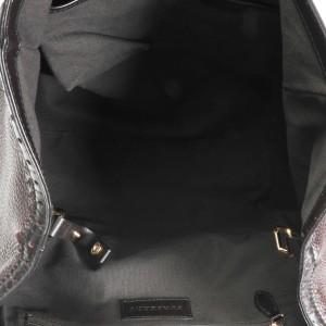 Burberry Chocolate Pebbled Leather Brogue Canterbury Bag