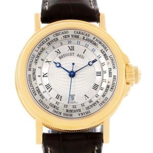 Breguet Marine Hora Mundi 24 World Time Zones Yellow Gold Watch 3700