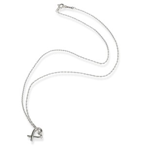 Tiffany & Co. Paloma Picasso Loving Heart Necklace in  Sterling Silver