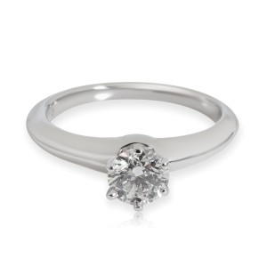 Tiffany & Co. Solitaire Diamond Engagement Ring in Platinum G VS2 0.59 CTW