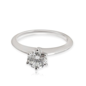 Tiffany & Co. Diamond Solitaire Ring in  Platinum I VS1 0.76 CTW