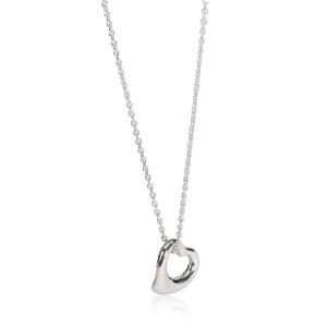 Tiffany & Co. Elsa Peretti Open Heart Diamond Necklace in  Platinum 0.35 CTW