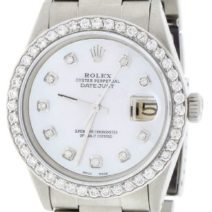 Rolex Datejust 36MM Automatic Stainless Steel Oyster Watch w/MOP Diamond Dial & Bezel