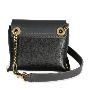 Chloé Black & Sand Leather Mini Clare Bag