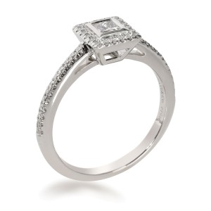 Tiffany & Co. Grace Princess Diamond Ring in  Platinum 0.27 CTW