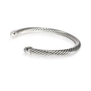 David Yurman Cable Diamond Bangle in  Sterling Silver 0.10