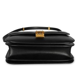 Celine Black Smooth Calfskin Classic Box Bag