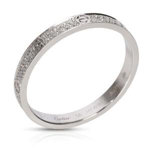 Cartier Love Diamond Ring in 18K White Gold 0.19