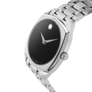 Movado Museum Cushion 84 F4 1342 Stainless Steel Mens Watch