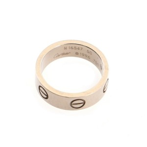Cartier Love Band Ring 18K White Gold 5.25 - 50