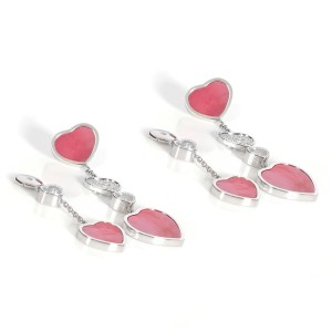 Chopard Happy Hearts Naked Hearts Foundation Mother of Pearl Earrings 0.57