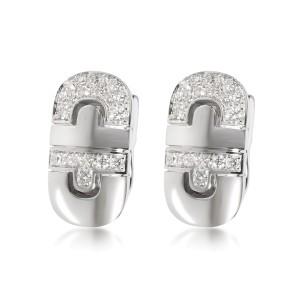 Bulgari Parentesi Diamond Earrings in 18K White Gold 0.75