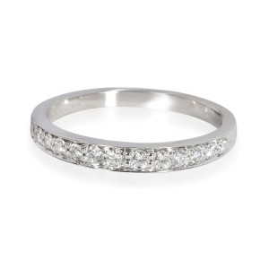 Tiffany & Co. Prong Set Diamond Wedding Band in Platinum 0.60