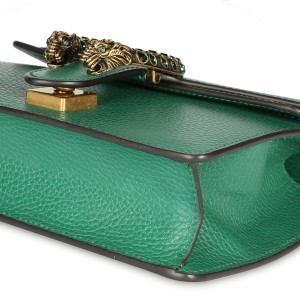 Gucci Green Leather & Crystal Mini Dionysus Bag