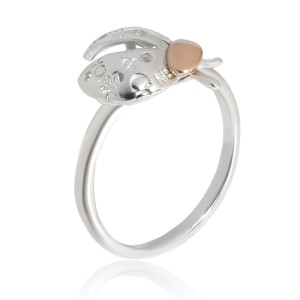 Return to Tiffany Love Bugs Ladybug Ring in 18K Pink Gold/Sterling Silver