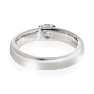 Tiffany & Co. Bezel Diamond Solitaire Ring in  Platinum 0.32