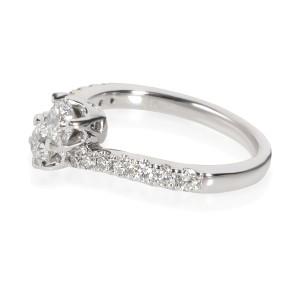 Two Stone Diamond Ring in 14K White Gold 1.00