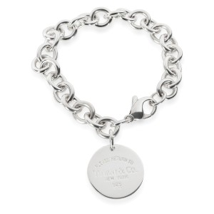 Return to Tiffany Round Tag Bracelet in  Sterling Silver