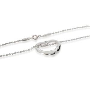 Tiffany & Co Elsa Peretti Open Heart Diamond Necklace in Sterling Silver 0.03