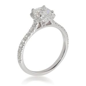 James Allen Halo Diamond Engagement Ring in 14K White Gold GIA F IF 1.23