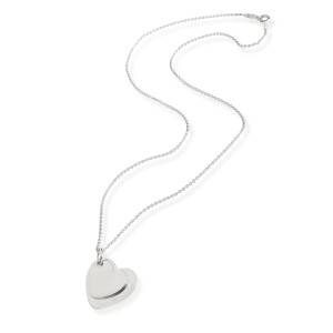 Tiffany & Co. Double Heart Tag Necklace in  Sterling Silver