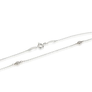 Tiffany & Co. Elsa Peretti Diamond by Yard Necklace in  Sterling Silver 0.09