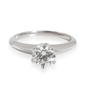 Tiffany & Co. Solitaire Diamond Engagement Ring in Platinum H VS2 0.85