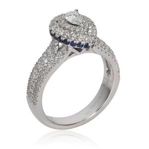 Vera Wang Love Diamond Engagement Ring in 14K White Gold 1.00 CTW