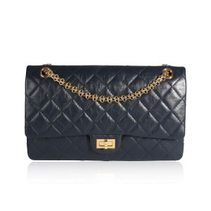 Chanel Marine Quilted Aged Calfskin 2.55 Reissue 226 Flap Bag