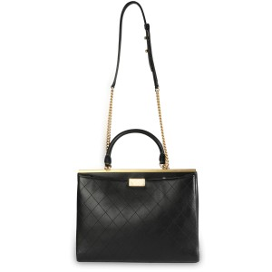 Chanel Black Quilted Calfskin Coco Luxe Large Shopping Bag