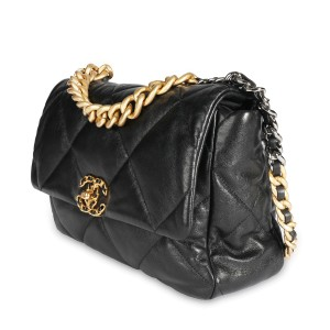 Chanel Black Quilted Lambskin Chanel 19 Large Flap Bag