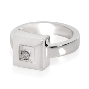 Chopard Happy Diamonds Ring in 18K White Gold 0.05