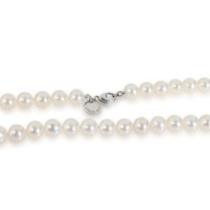 Tiffany & Co. Notes Pearl Necklace in  Sterling Silver