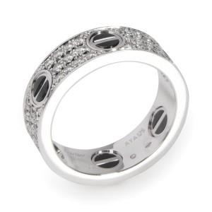 Cartier Ceramic & Enamel Love Ring in 18K White Gold 0.74