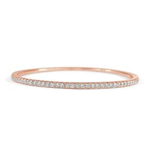 Diamond Bangle in 14KT Rose Gold 1.00 ctw