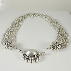 Lagos  Sterling Silver  Mabe Pearl Necklace