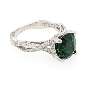 Tacori Platinum 3.03 ct. Chrome Diopside & Diamond Ring